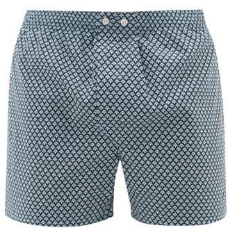 Derek Rose Ledbury 31 Cotton Boxer Shorts - Mens - Blue Multi