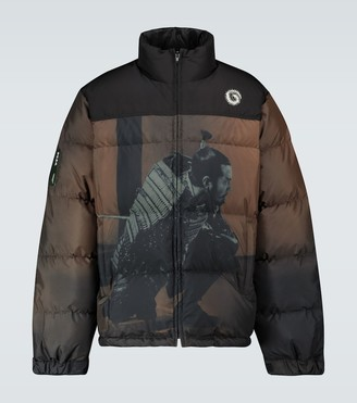 Undercover Samurai-print down-filled jacket