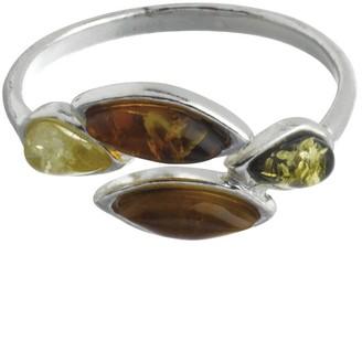 Nature D'ambre Nature d 'Ambre 3111153Women's Ring Silver 925/1000Amber