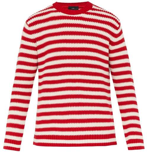 Alanui Stripe Jacquard Sweater - Mens - Red Multi