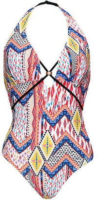 Figleaves Sahara Plunge Strapping Swimsuit