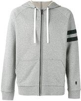 Lanvin striped sleeve zip hoodie - men - Cotton/Polyester/Spandex/Elastane - L
