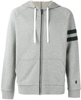 Lanvin striped sleeve zip hoodie - men - Cotton/Polyester/Spandex/Elastane - S