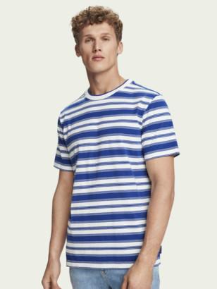 Scotch & Soda 100% cotton striped short sleeve t-shirt | Men