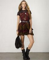 Denim & Supply Ralph Lauren Short-Sleeve Mixed-Print Tiered Dress