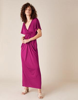 Monsoon Jessica Slinky Jersey Maxi Dress Red