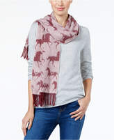 Charter Club Horse Print Woven Cashmere Scarf, Created for Macy's
