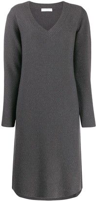 Fabiana Filippi V-neck knit dress