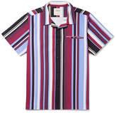 Noon Goons Camp-collar Striped Cotton-twill Shirt - Multi