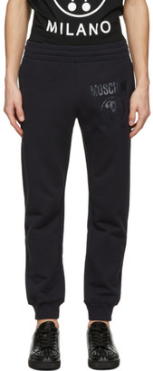 Moschino Navy Double Question Mark Lounge Pants