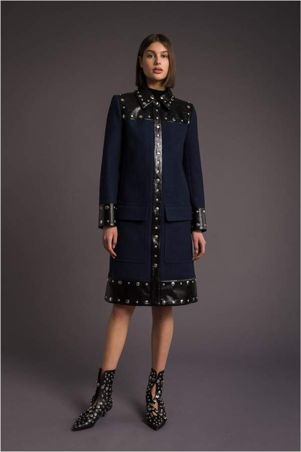 Sonia Rykiel Military Wool Coat