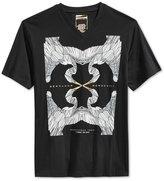 Sean John Men's Mosaic Crane Graphic-Print T-Shirt, Only at Macy's