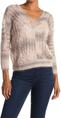 Lush Open Stitch Marled Knit Sweater
