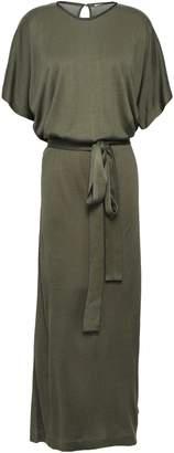 Ninety Percent Cutout Belted Draped Jersey Maxi Dress
