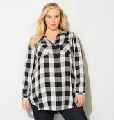Avenue Black Combo Plaid Tunic Shirt