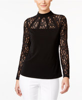 Thalia Sodi Lace Mock-Neck Top, Only at Macy's