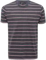 M&Co Woven stripe crew neck t-shirt