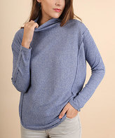 Umgee USA Blue Turtleneck Top