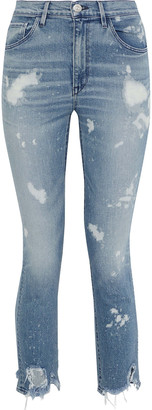 3x1 W4 Bleached Distressed High-rise Skinny Jeans