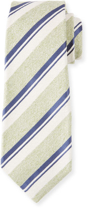 Kiton Men's Textured Stripe Silk Tie