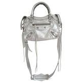 Balenciaga Silver Leather Handbag City