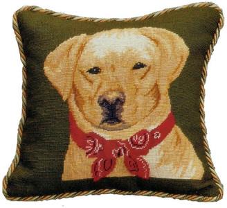 Petit Point Hkh Internatonal Labrador Pillow