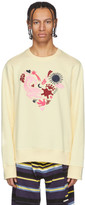 Kenzo Yellow Limited Edition Valentines Day Lucky Star Sweatshirt