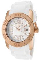 Swiss Legend Women's 10114-RG-02 Commander White Polyurethane and Rose Gold Tone Watch