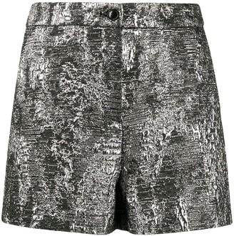 Boutique Moschino Abstract Print High-Waisted Shorts