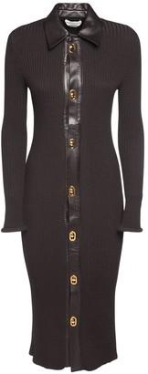 Bottega Veneta Knit Ribbed Wool Blend Dress