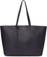 Saint Laurent Navy Large East-west Shopping Tote