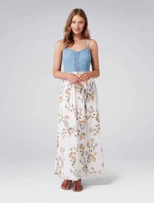 Forever New Grace Printed Two-in-One Maxi Dress - Antique Rose - 4