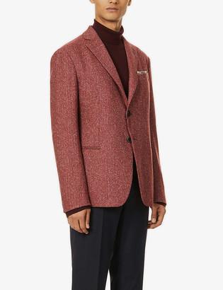 Emporio Armani Speckled regular-fit wool-blend jacket
