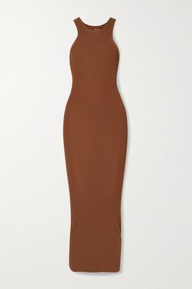 Totême Espera Ribbed-knit Maxi Dress - Brown