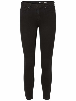 Name It NOISY MAY Women's Nmkimmy Nw Ankle Zip Jeans Black Noos 28W / 32L