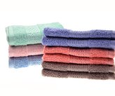 "Cleanbear Face-Cloth Washcloths Set,100% Cotton, High Absorbent, 6-pack 6 Colors, Size13""x13""-deep color"