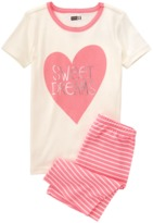 Crazy 8 Sweat Dreams 2-Piece Shortie Pajama Set