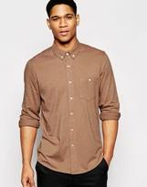 Asos Regular Fit Jersey Shirt In Camel
