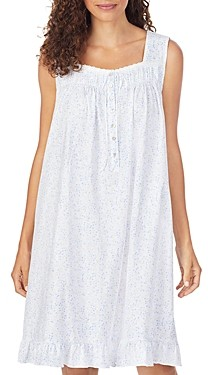 Eileen West Floral Print Cotton Chemise Nightgown