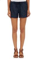 Skin SKIN WOMEN'S COTTON-BLEND TWILL DRAWSTRING SHORTS-BLUE SIZE 0