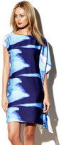 Vince Camuto Ocean Blue Draped Dress