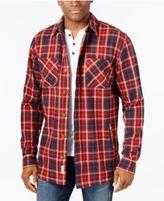 Weatherproof Vintage Men's Big and Tall Twill Plaid Shirt Jacket, Classic Fit