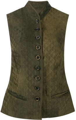 UMA WANG Diamond Effect Button-Up Waistcoat