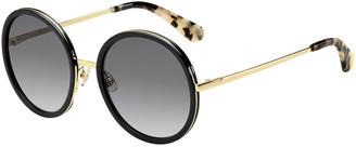 Kate Spade Lamonica Round Sunglasses, Black