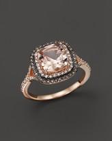 Bloomingdale's Morganite, White Diamond and Brown Diamond Ring in 14K Rose Gold - 100% Exclusive