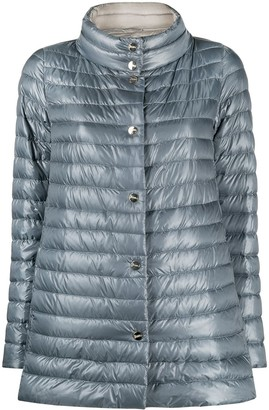 Herno reversible A-line quilted jacket