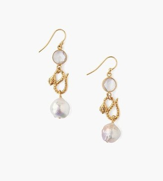 Chan Luu Tiered Snake And Clear Quartz Earrings