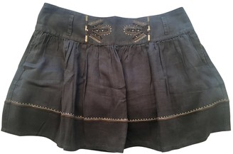 Comptoir des Cotonniers Blue Linen Skirt for Women