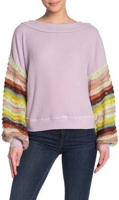 Urban Outfitters Colored Balloon Sleeve Knit Sweater