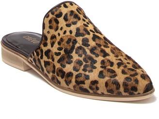 Crevo Luci Genuine Calf Hair Leopard Print Mule